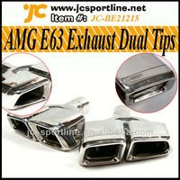 E Class W212 C207 AMG E63 Exhaust Tip pipe For Mercedes Benz W212