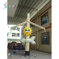 Outdoor Event Advertising Inflatables Cheap Smile Sunny With Direction Sky Dancer