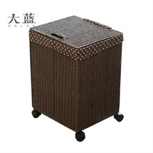 Wholesale high quanlity paper rope laundry basket with wheels