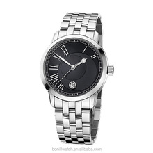 """best selling women bracelate watches black Roman number dial stainless steel watch"