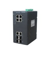 8 port gigabit poe-pse managed industrial ethernet switch /ethernet controlled power switch