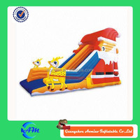 christmas santa claus inflatable slide