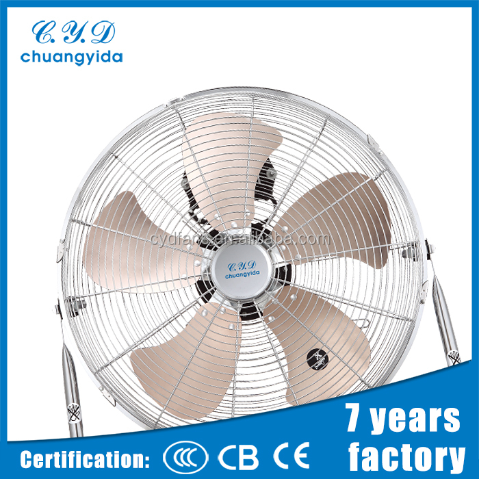Hot selling 18'' Tilt adjustable air cool manual control floor fan