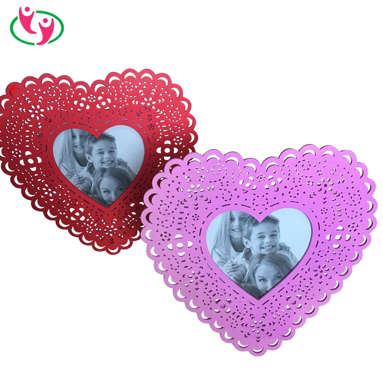 Ieal Wedding Gift Heart Shaped Wooden Photo Frame