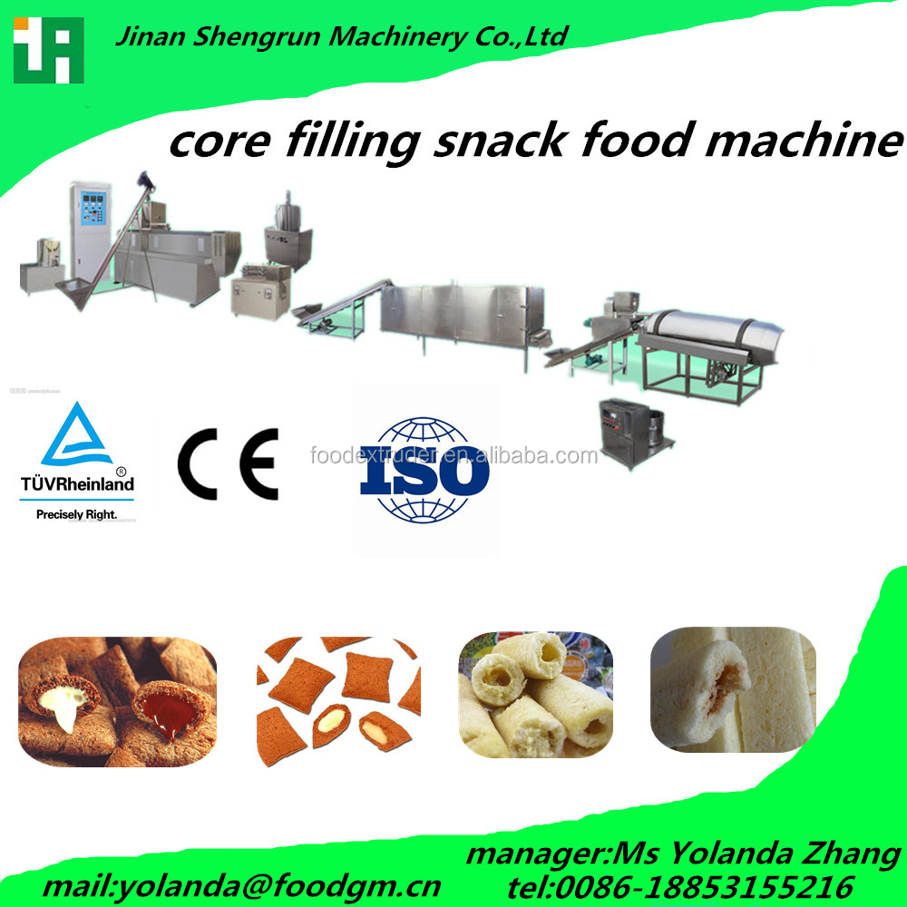 120-150kg/hr health core filling snack food making equip