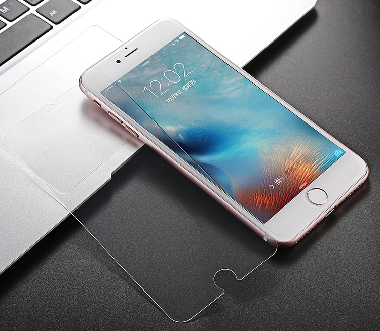 Hot sell 2.5d 0.33mm for iphone 7 screen protector silicone tempered glass screen protector for iphone 7