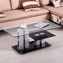 Fashion hot sale low price high quality fancy glass coffee table