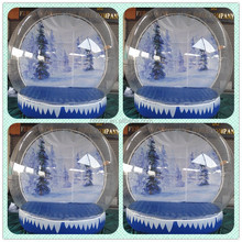 Christmas tree style large snow globes christmas inflatable snow globe for sale