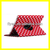 360 rotating magnetic leather case for ipad 4 ipad 3 ipad 2 general polka dot smart cover best wholesale