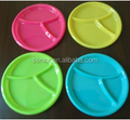 3 Section Serving Dip Trays Round New Design Plastic PP Fries And Dip Tray