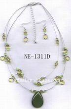 jade jewelry water-drop shape necklace