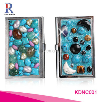 sublimation business card holder with unique rhinestone