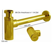 In wall G1/4'' Gold stainless steel & brass bathroom siphon trap for wash basin
