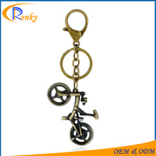 Wholesale merchandise promotional products antique bicycle keychain metal