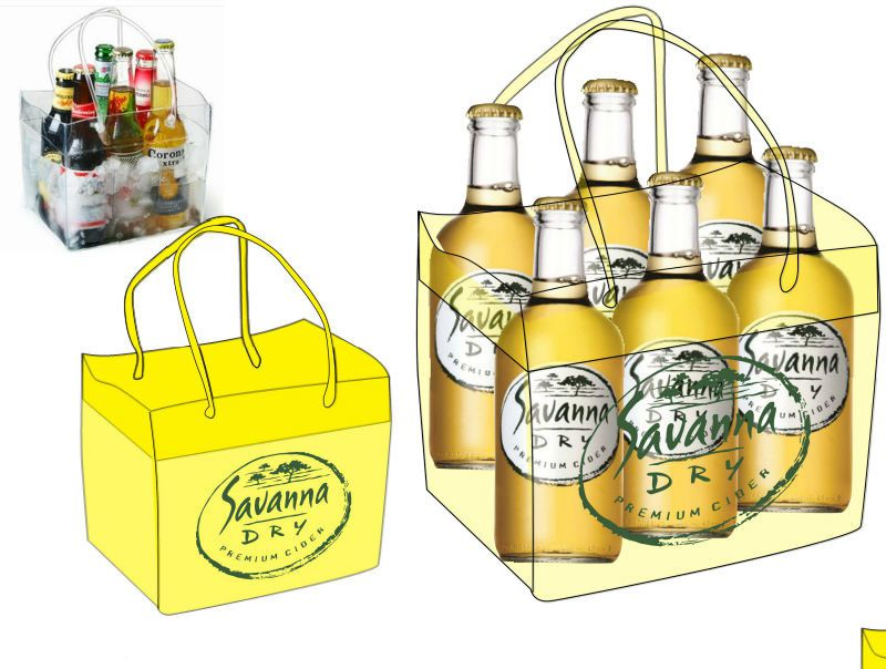 Collapsible wine bag travel pvc ice bucket beer pouch