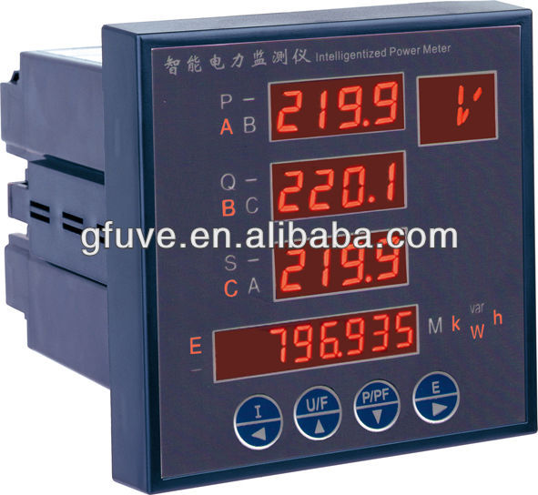 GFUVE digital panel meter Multifunction Harmonic Analyzer Power panel Meter