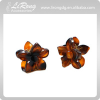 3.5cm Plastic Flower Hair Claw Clip