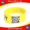 wholesale medical blank barcode silicone id bracelet, cheap price two dimension quick response 2D QR code bracelets