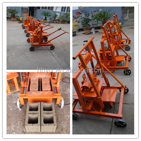 Best selling Small type QMR2-45 mobile concrete block machine/cement hollow blocks making