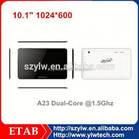 Screen 1024*600 A23 Dual core android tablet 10.1