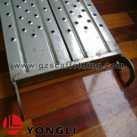 Scaffolding galvanized steel plank catwalk platform with caster wheel