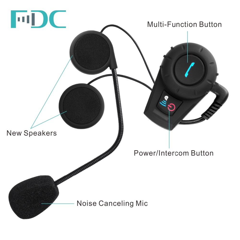 FreedConn FDC-VB 500M BT Bluetooth Interphone Intercom Motorbike Motorcycle Helmet Intercom Headset+FM radio