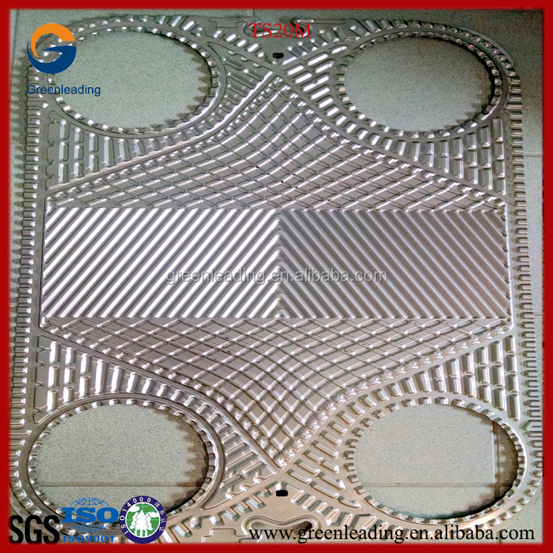 AISI316L / 304 / Titanium stainless steel heat exchanger plate with gasket for PHE