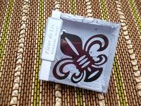 Iris bookmark with Elegant Silk Tassel Wedding Favors