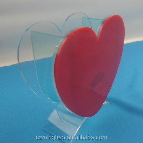 Red heart shaped acrylic plastic fish tank