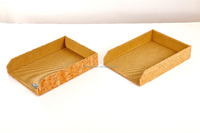 Office Cork Stackable Desktop Organizer Letter Tray Desk Accessories