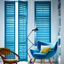 customized 64mm louver plantation shutters