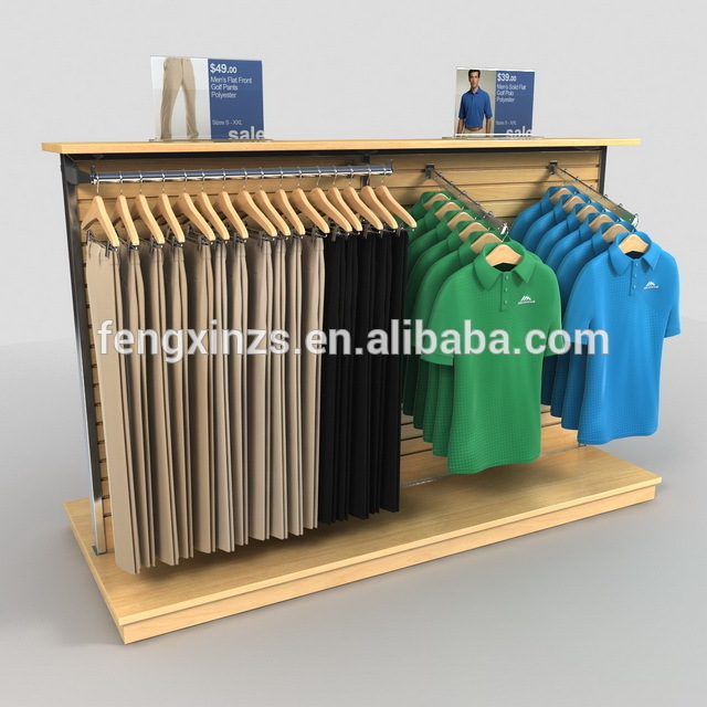 Kids clothing store interior design for clothes rack