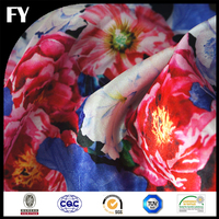 FY 2017 Custom Digital Print Your Own Design Evening Dress Polyester Satin Fabric Textiles from China