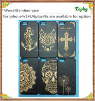 Phone Cases for iPhone 6 case Custom Picture Printing Back Housing Wooden Cover, TPU & PC Frame Both