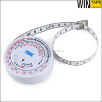 metric body measuring tape cheap measurement tools 150cm round BMI calculator in spanish