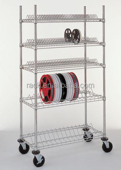 1F Antistatic SMT Reel Storage Cart Trolley , NSF & SGS Approval