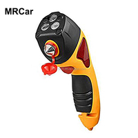6-in-1 multifunctional emergency car safety hammer with SOS warning LED light