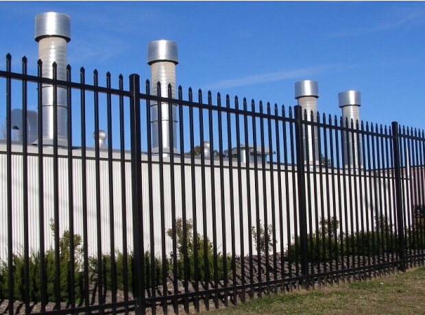 2017 new product powder coated galvanized 2.1x2.4m steel fencing