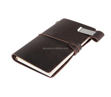 Antique Handmade Leather Bound Daily Notepad Writing Notebook