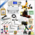 2015 new cheap beginner tattoo complete starter machine kits, permanent makeup machine set tattoo guns kit professional