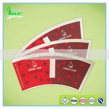 Redford single or double side pe coated preprint and precut coffee paper cup fan
