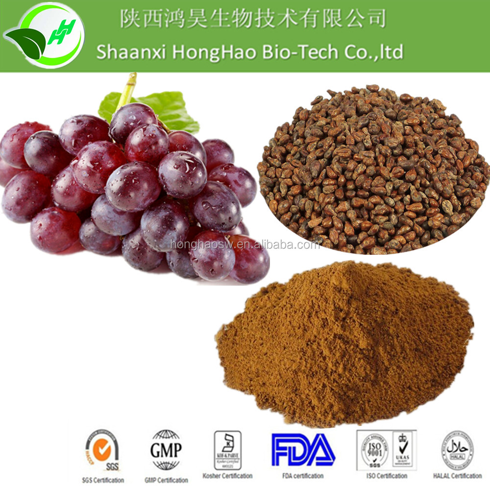 Herb Medicine Grape Seed 95%OPC / Proantho Cyanidins powder supplier