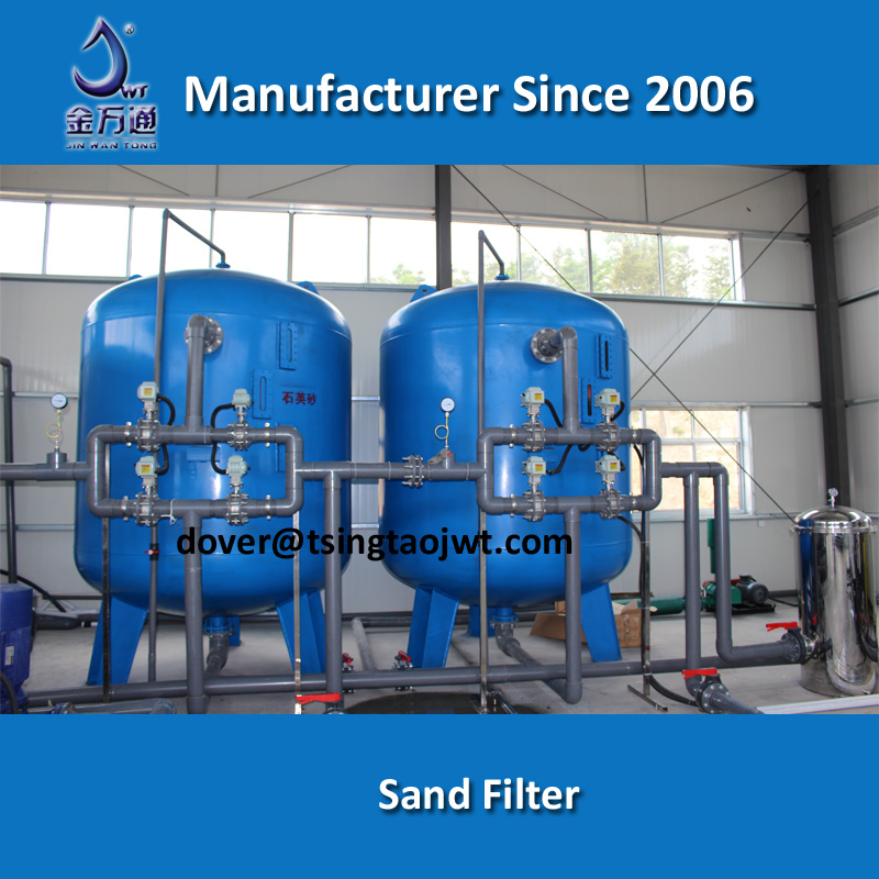 Automatic sand filter for water purification