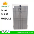 2017 new BYD double-glass 60 cells 260W poly solar panel 2mm thin frameless panel solar 260W for solar system PID free long life