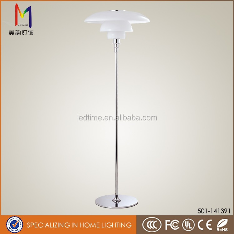 New design decorative glass shape modern floor lamps