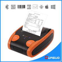 China Portable bluetooth thermal label barcode mobile printer