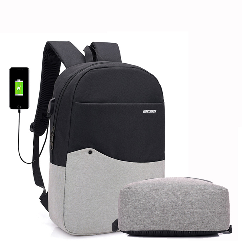 2018 New design men USB charging <strong>school</strong> travel slim laptop backpack book bags for teenagers girls