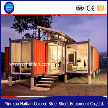 Flat pack prefab cargo glass container houses ,prefabricated sandwich panel luxury container modern cabin/homes for sale
