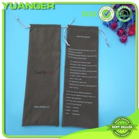 Good Felling Plush Gray Velour Hair Packaging Bag Wholesaler