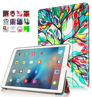 Low price wholesale for colorful tree patterned unbreakble protective tablet case waterproof leather stand case for iPad Pro 9.7